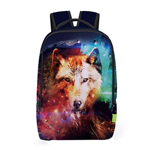 Unisex 3D Galaxy Travel Satchel Backpack Rucksack Shoulder Bookbag School Bag (I) Review