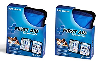 First Aid Only All-purpose First Aid Kit, Soft Case with Zipper, 299-Piece Kit, Large, Blue (2-Pack from First Aid Only