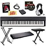 Casio Privia PX-160 Digital Piano - Black Bundle with Adjustable Stand, Bench, Dust Cover, Headphones, Sustain Pedal, Instructional Book, Austin Bazaar Instructional DVD, and Polishing Cloth