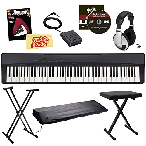 Casio Privia PX-160 Digital Piano Bundle with Stand, Bench,