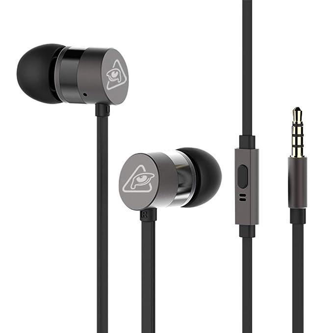 RAVEtone Auriculares in-Ear, Auriculares con Cable con micrófono ...