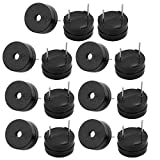 Aexit 15Pcs Miniature 3V Active Buzzer Magnetic Long Continous Beep Tone 12mm x 6.5mm