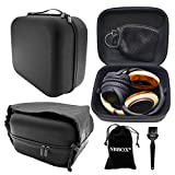 Nbbox Headphone Case For Sennheiser PC151 PC310 PC320 PC323D PC330 PC360 PC363D X320 GAME ONE PC G4ME ZERO PC GAME ZERO PC Headset With Storage Bag, Brush, Velvet Bag