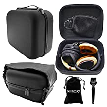 Nbbox Headphone Case For Plantronics Gamecom 380 388 367 377 780 788, Philips Fidelio X1 X2 L1 L2 F1 NC1 SHP9500 Philips M1MKIIBO M2BTBK Headset With Storage Bag, Brush, Velvet Bag