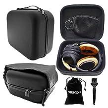 Nbbox Full Size Hardshell Earphone Headset Headphone Protection Case For Sennheiser HD598, HD 280 Pro, HD 380 PRO, PC350, PXC350, PXE350, HD380, HME95, HMEC250, PC 323D Gaming Headset Headphones With Storage Bag, Brush, Velvet Bag