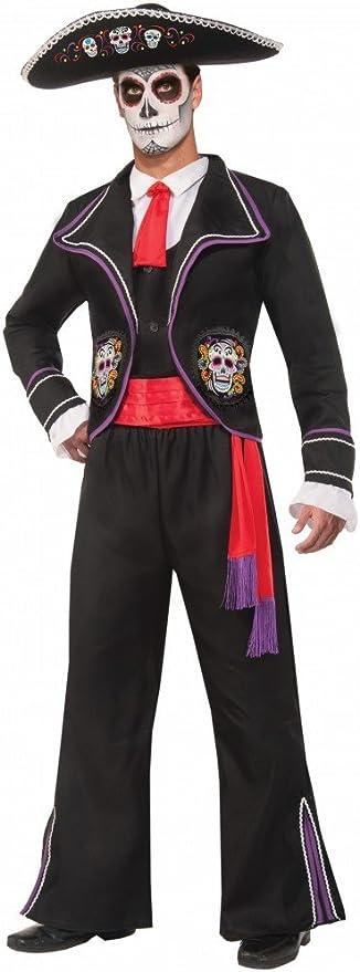 shoperama Hombre Disfraz de Day of The Dead – Traje con Calaveras ...