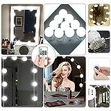 Vanity Mirror Lights Kit,ELE King LED Mirror Light Iintelligent Remote Control 3 Installations Upgrade Hollywood Makeup Lamp Bath Mirror Lamps