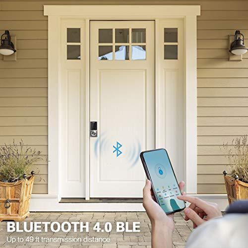 Sciener Digital Smart Lock, Bluetooth Enabled APP Touchscreen Keyless Entry Door Lock, Easy to Install,Silver by sciener (Image #3)