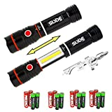 Nebo 6156 Slyde 250 Lumen LED flashlight/Worklight Two Pack and True Utility TU247 KeyTool bundle with 8 X EdisonBright AAA alkaline batteries