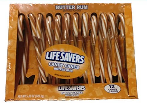 LifeSavers Candy Canes Butter Rum - Lifesavers Candy Butter Rum