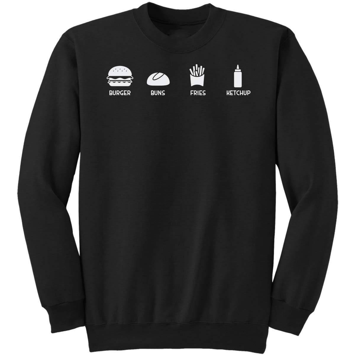 DoozyGifts99 Burger Buns Fries Ketchup-Hamburger Lov Sweatshirt