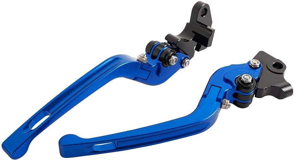 CNC Aluminium 3D verstellbarer Bremsgriff Klappbarer Motorrad-Kupplungshebel f/ür Yamaha WR 125X 2011-2015 Schwarz