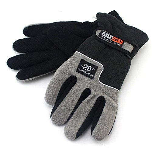 Senston Outdoor-Sportarten Handschuhe Radsport Motorrad Winter-Polar-Fleece-Handschuhe Herren Handschuhe Grau