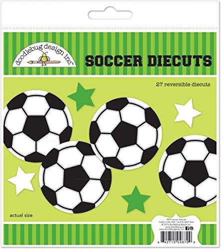 Doodle Dies (Doodlebug Reversible Die-Cuts 27/Pkg-Goal!! Soccer)