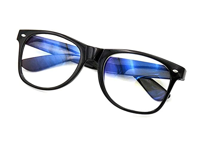 Buy Optify® Premium BlueCut UV420 PROTECTED Wayfarer Spectacles Frame With Anti glare Blue Ray Cut Block Glasses Zero Power for Eye Protection from Computer Tablet Laptop Mobile Eyeglasses Make In india at Amazon.in