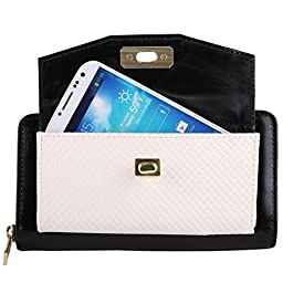 Venice Wallet Clutch Bag For Samsung Android Smartphones (ideal for Galaxy, ATIV & Z Phones) + Car Charger + Home Charger