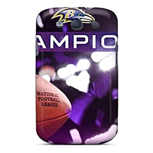 Flexible Tpu Back Case Cover For Galaxy S3 - Baltimore Ravens