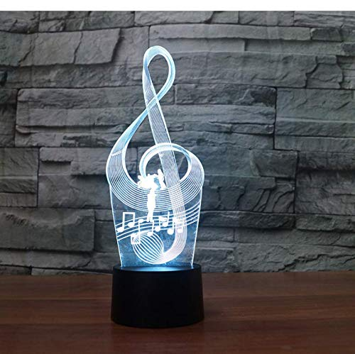 Buntes 3D Nachtlicht Music Notation Lamp Kids Toy Led Touch Table Lamp 7 Colors Flashing Led Light Ations For…