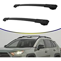 RE/&AR Tuning Cross Bar Compatible for Dacia Duster 2018-2021 Roof Racks Car Top Luggage Carrier Rails Alu Black