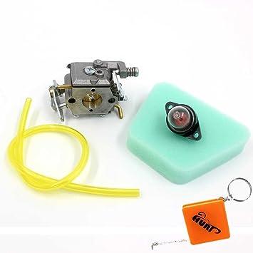 Huri carburador + filtro de aire + bomba de amorcage para motosierra Partner 350 351 352