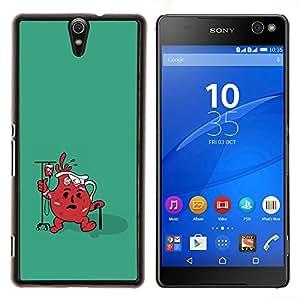 LECELL--Funda protectora / Cubierta / Piel For Sony Xperia C5 Ultra -- Divertido Ayuda Jug fresca --
