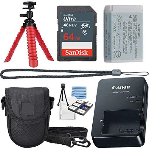 Canon PowerShot Digital Camera G7 X Mark II with Wi-Fi & NFC, LCD Screen, and 1-inch Sensor – (Black) 11 Piece Value…