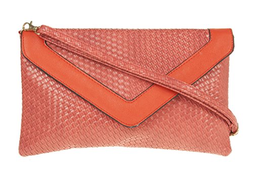 Girly Handbags - Cartera de mano para mujer W 30, H 20, D 3.5 cm (W 12, H 8, D 1.5 inches) rojo - rojo