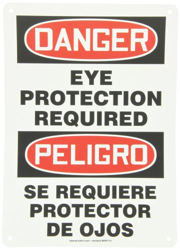Eye Protection Multi (Accuform SBMPPA105VP Plastic Spanish Bilingual Sign, Legend