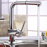 Single Handle Pull Out Kitchen Sink Faucet with Sprayer Chrome Finish