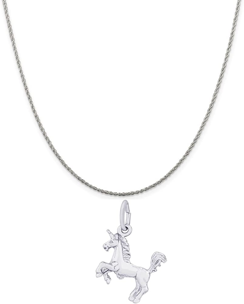18 or 20 inch Rope Box or Curb Chain Necklace Rembrandt Charms Two-Tone Sterling Silver Hummingbird Charm on a Sterling Silver 16