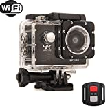 Podofo 4K WiFi Action Camera Ultra HD 16MP Waterproof Sports DV Camcorder 2.0 Inch LCD Screen 170 Degree Wide Angle and 19 Mounting Kits Action Cameras podofo