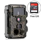Trail Camera - Trail Camera, Papake 1080P HD Wildlife Camera 12 MP Surveillance Camera with 3 Zone Infrared Sensor, IP66 Waterproof, 120°Wide Angle Night Vision (32GB SD Card Included)