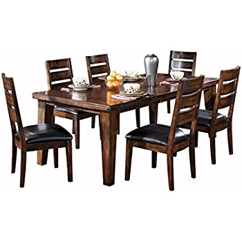 Amazon ashley furniture signature design larchmont dining ashley furniture signature design larchmont dining room table old world style burnished dark watchthetrailerfo
