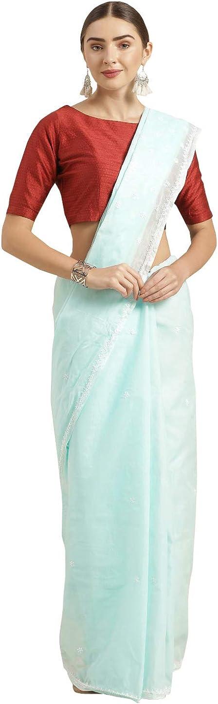 Ada Handmade Chikankari Cotton Saree with Unstiched Blouse A346178_Blue