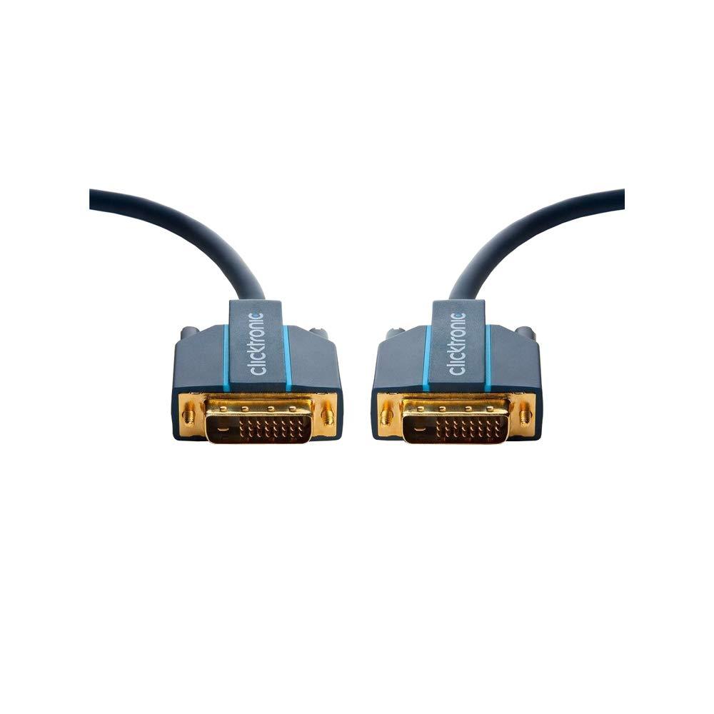 Clicktronic 70332 Cavo DVI-D 2 m Lunghezza del Cavo 24+1 - DVI-D 1m 24+1