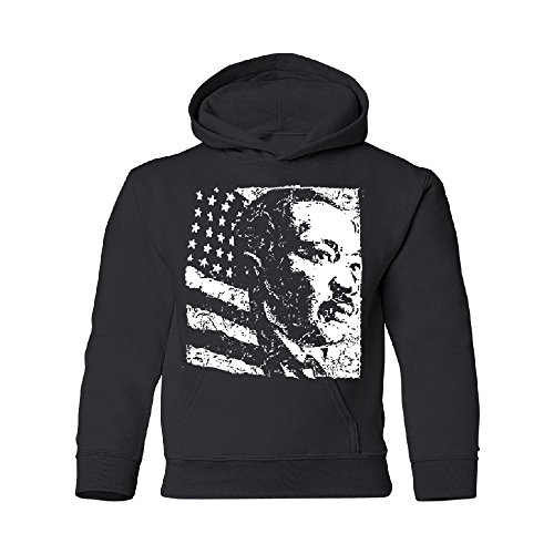 Dr. Martin Luther King Silhouette Youth Hoodie MLK Jr. Influential Leader Black Youth Large (Martin Luther King Jr Father And Mother)