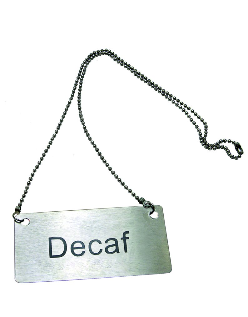 Decaf Chain Sign