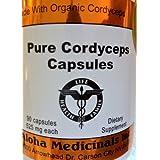 Pure Cordyceps Organic , 525 mg , 90 Capsules, 5 Bottles / Pur Cordyceps biologique, 525 mg , 90 gélules , 5 Bouteilles
