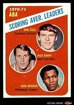 1971 Topps # 147 ABA Scoring Average Leaders John Brisker/Dan Issel/Rick Barry Kentucky/New York/Pittsburgh Colonels/Nets/Condors (Basketball Card) Dean's Cards 1.5 - FAIR Colonels/Nets/Condors
