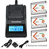 Kastar Ultra Fast Charger(3X faster) Kit and Battery (3-Pack) for NP-BN1, BC-CSN work with Sony Cyber-shot DSC-QX10,DSC-QX100,DSC-T99,DSC-T110,DSC-TF1,DSC-TX5,TX7,TX9,DSC-TX10,DSC-TX20,DSC-TX30,DSC-TX55,DSC-TX66,DSC-TX100V,DSC-TX200V,DSC-W310,W320,W330,W350,W360,W380,W390,DSC-W510,DSC-W515PS,DSC-W520,DSC-W530,DSC-W550,DSC-W560,DSC-W570,DSC-W580,DSC-W610,DSC-W620,DSC-W650,DSC-W690,DSC-W710,DSC-W730,DSC-W810,DSC-W830,DSC-WX5,DSC-WX7,DSC-WX9,DSC-WX30,DSC-WX50,DSC-WX70,DSC-WX80,DSC-WX150,DSC-WX220