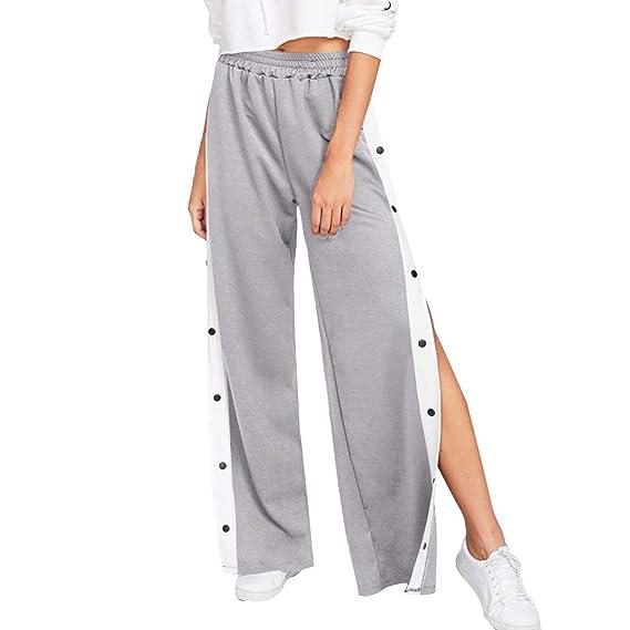 Inlefen Pantalon Haute Jambe Femmes Pour Large Vêtements Taille 3ALj4R5q