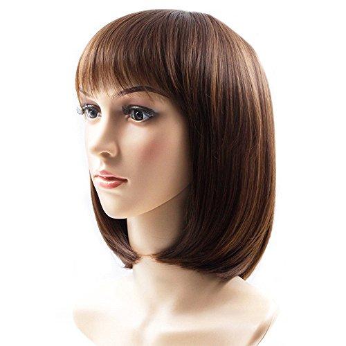Rabbitgoo Women Wigs Short Brown Wig for Ladies Natural Soft like Real Hair...