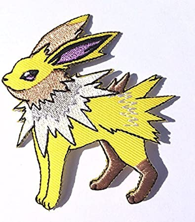 UMBREON Pokemon Go 3 Embroidered Sew//Iron-on Patch Dark Pok/émon Evolved Eevee Applique Badge