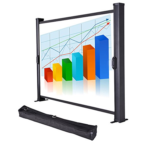 Yescom 30'' Diagonal Tabletop Mini Projector Screen Projection w/Carrying Bag for Conference Office by Yescom