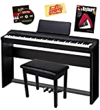 : Casio Privia PX-160 Digital Piano - Black Bundle with CS-67 Stand, SP-33 Pedal, Furniture Bench, Instructional Book, Austin Bazaar Instructional DVD, and Polishing Cloth