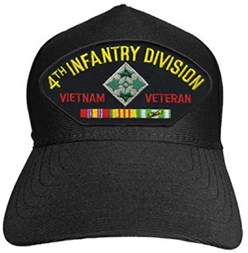 Armed Forces Depot U.S. Army 4th Infantry Division Vietnam Veteran Baseball Cap. Black. Made in USA ()