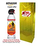 """THE FIREMAN Multi-Purpose Fire Extinguishing Suppressant Spray: UL APPROVED """"wetting agent"""" for Home Safety - Fights ALL 4 Common Fires: Wood, Gasoline, Electrical and Grease (Class A,B,C & K) 18 oz"""