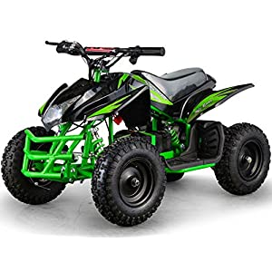 Outdoor-Kids-Children-Titan-24V-Green-Mini-Quad-ATV-Dirt-Motor-Bike-Electric-Battery-Powered
