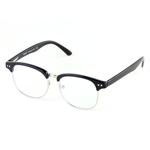Cyxus filtro de luz azul gafas de media montura (lente transparente ...