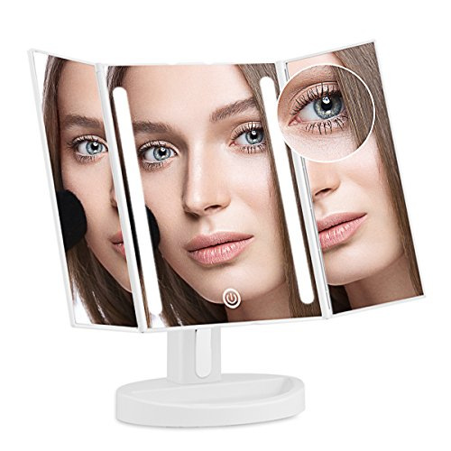 AHYO Lighted Vanity Makeup Mirror with 10x Magnifying Sof...